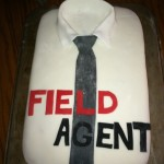 Field agent birthday cake